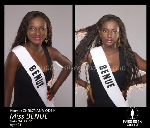 Miss-BENUE-MBGN 2013 CHRITIANAH ODEH