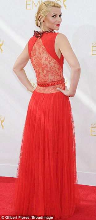 Emmy red carpet 2014 claire danes