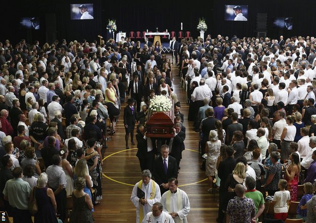 Hughes funeral 4