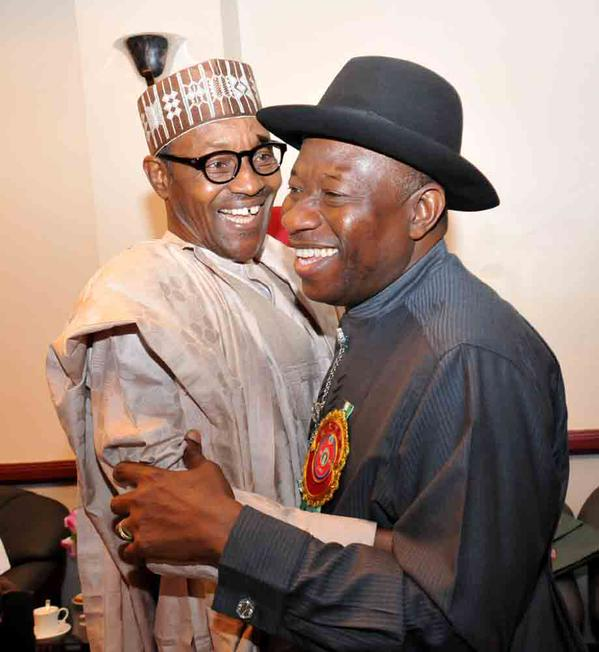 Buhari and Gej Embrace