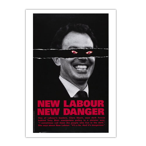 Tony Blair red eye poster 2