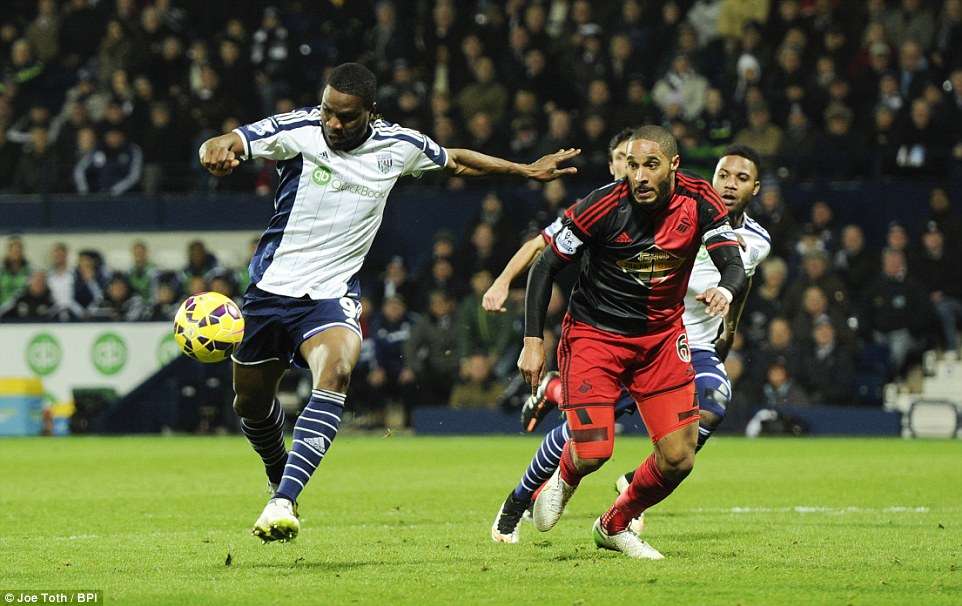 Brown Ideye scores for West Brom 2
