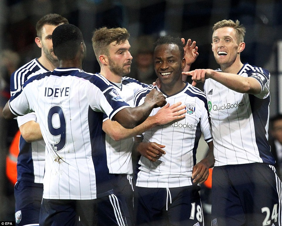 Brown Ideye scores for West Brom 3