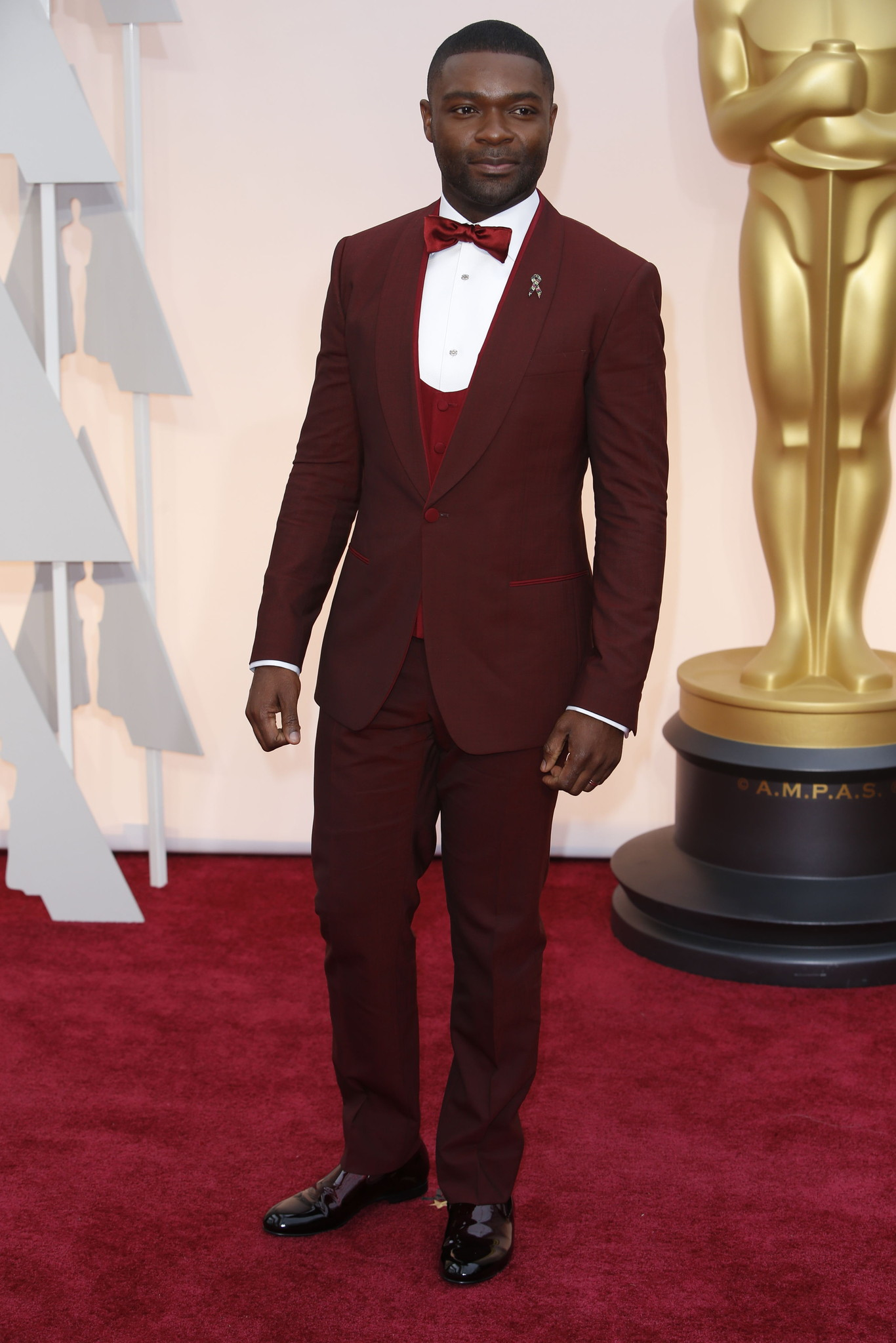 Oscar 2015 red carpet David Oyelowo in a pose