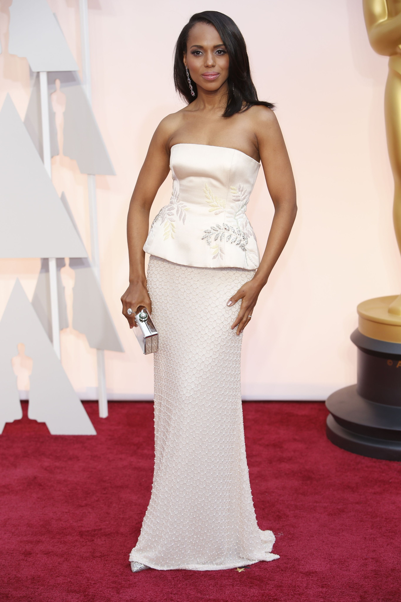 Oscar 2015 red carpet Kerry Washington
