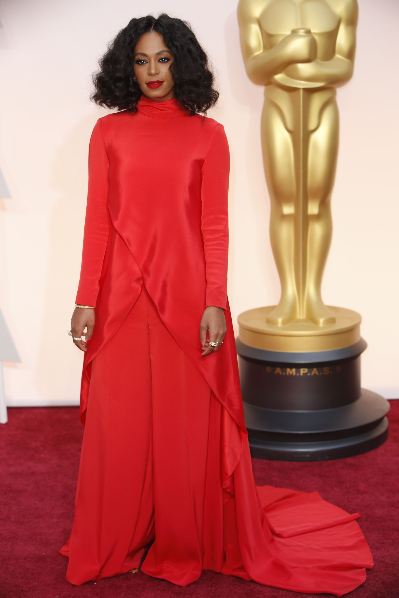 Oscar 2015 red carpet Solange