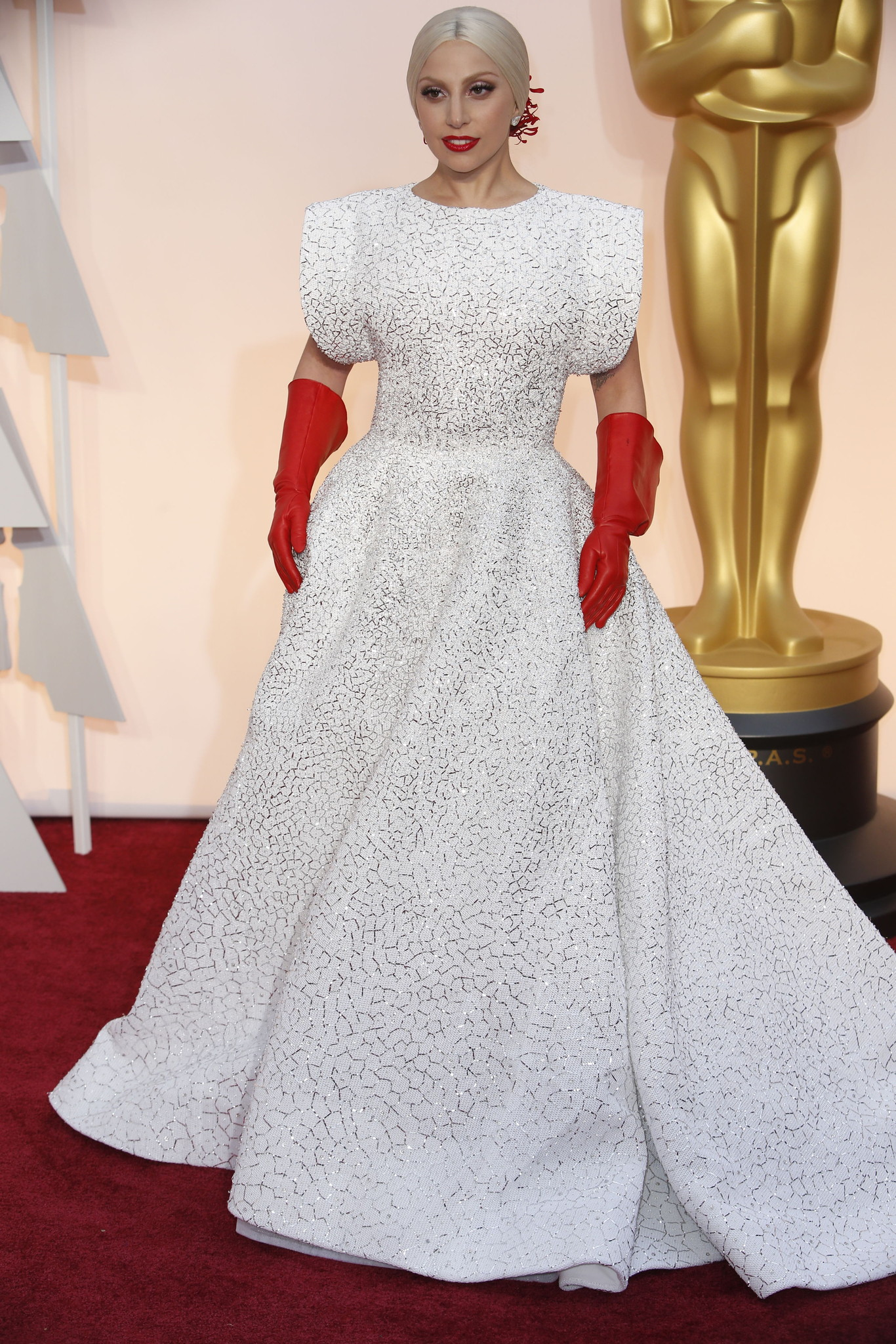 Oscar 2015 red carpet gaga