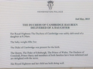 royal birth 2 the email read