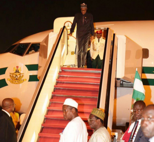 Buhari arrives from Germany