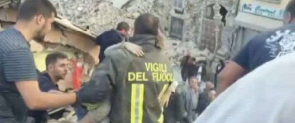 Image result for 10-Year Old Girl Is Pulled Alive From Rubble Of Italy's Earthquake